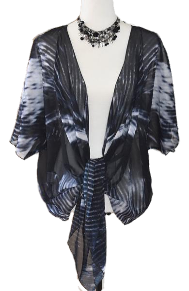 8. 'BNW Feather' Draped Kimono Cardigan - Tru-Artwear.ca