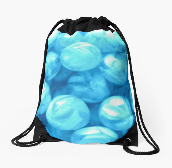 """Blue Beach Balls"" Drawstring Beach Bag - Tru-Artwear.ca"