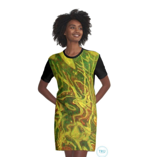 Camo Tunic T-Shirt Dress - Tru-Artwear.ca