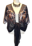'Urban Reflection' Draped Kimono Cardigan - Tru-Artwear.ca