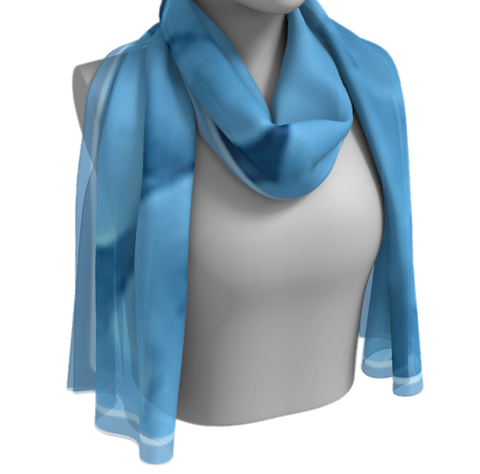 Dusty Blue Hydrangea Shawl | Wraps | 2 Sizes - Tru-Artwear.ca
