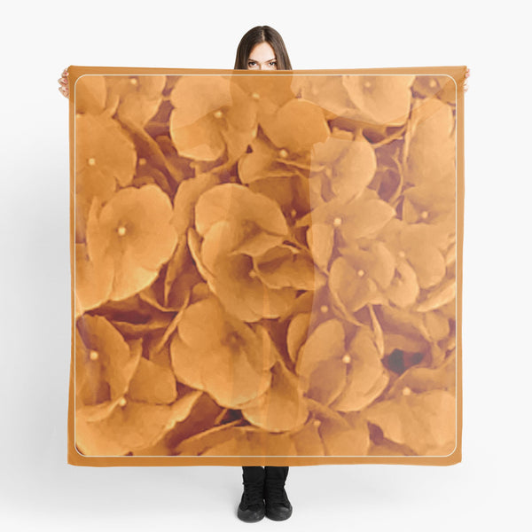 "'1. Scarves | Beach Cover-ups | Limited Edition: ""Amber Hydrangea"" Travel Scarf - Tru-Artwear.ca"