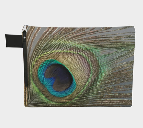 Peacock Feather Zipper Carry-All