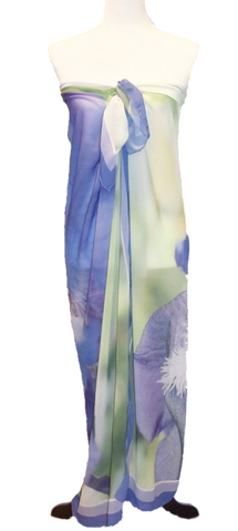 Purple Spring Iris Beach Wrap