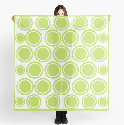 Green Circles Beach Wrap | Spring Green Circles Travel Scarf - Tru-Artwear.ca
