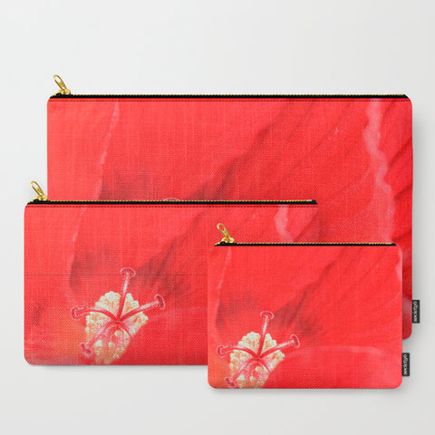 'Red Hibiscus' Travel Pouch Set - Tru-Artwear.ca
