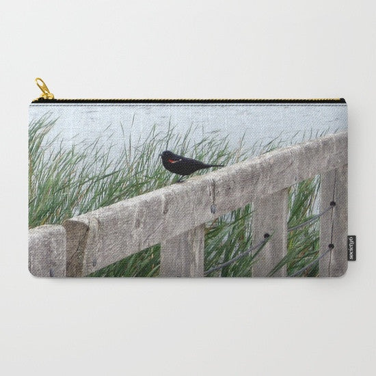 'Blackbird on Boardwalk' Travel Pouch Set - Tru-Artwear.ca