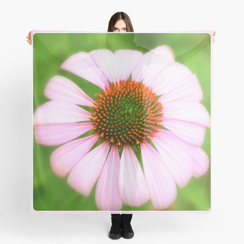 Beach Wrap | Limited Edition: 'Pink Gaillardia' Travel Scarf - Tru-Artwear.ca