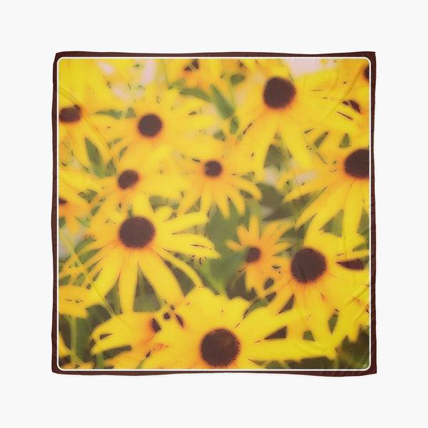 Scarves | Beach Cover-ups | Limited Edition: 'Black-Eyed Susans' Fashion Scarf - Tru-Artwear.ca