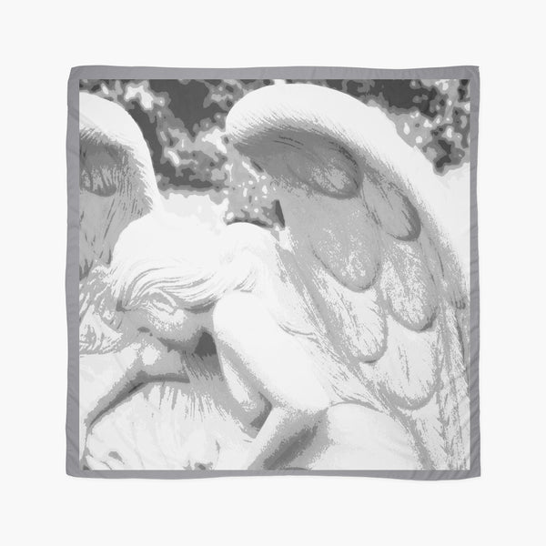 "Beach Wrap | Limited Edition: ""Angel of Compassion"" Large Square Scarf - Tru-Artwear.ca"