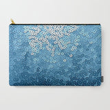 'Ocean Blue Sequins' Travel Pouch Set - Tru-Artwear.ca