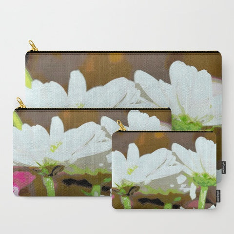 'White Daisies' Travel Pouch Set - Tru-Artwear.ca