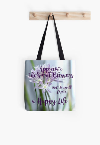 """Small Blessings"" Beach & Day Tote Bags* - Tru-Artwear.ca"