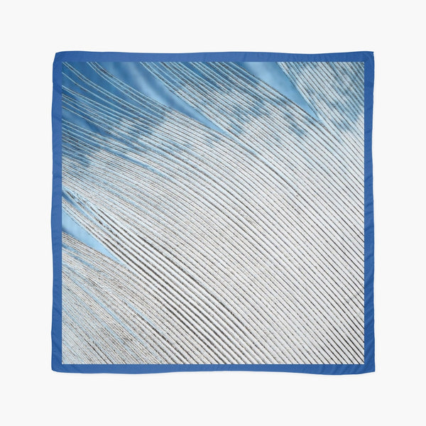 Scarves* | Beach Cover-ups | Limited Edition: 'Blue & White Feather' Beach Coverup & Travel Scarf