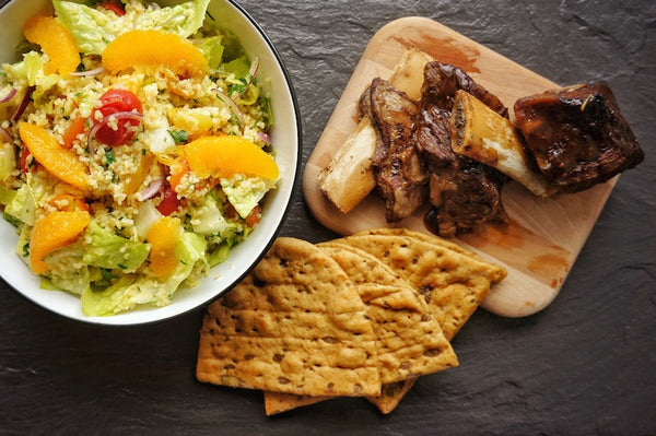 Beef Short Ribs with a Bulgur Wheat and Orange Salad