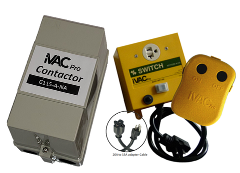 iVAC Pro Switch HP package - contains C115-A-NA, R115240NA  and S11520-A-NA
