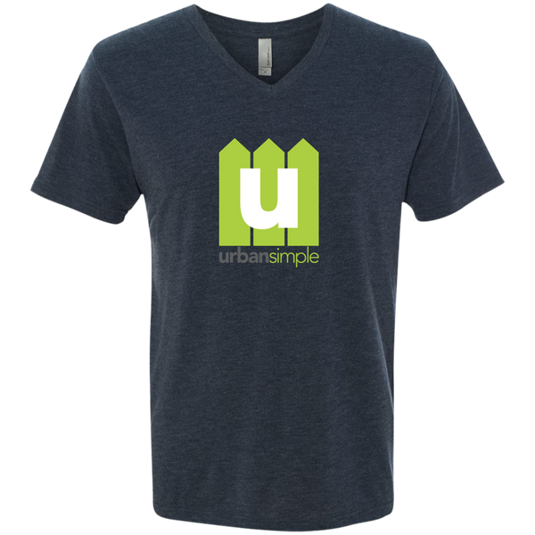 Urban Simple - Men's Next Level Triblend V-Neck Tee