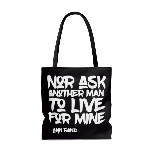 """I Swear By My Life"" Black Tote Bag"