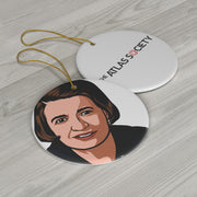Ayn Rand Ceramic Ornament