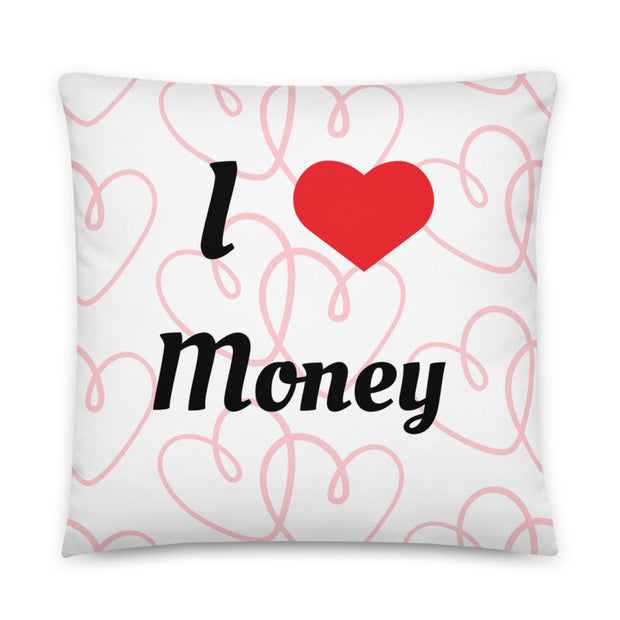 I Love Money Basic Pillow