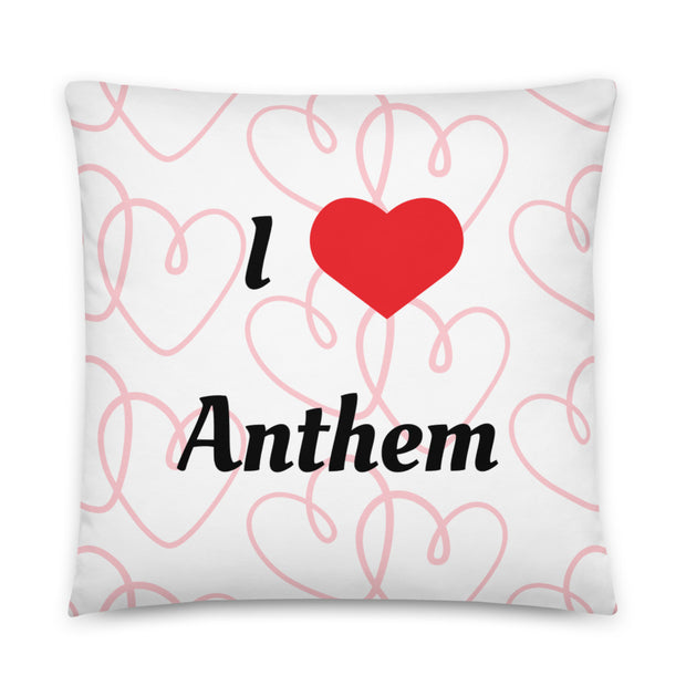 I Love Anthem Basic Pillow