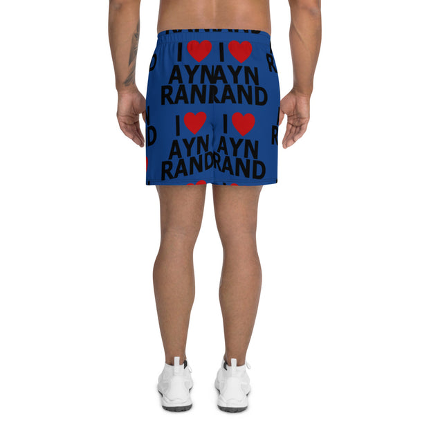 I Heart Ayn Rand Men's Long Shorts BLUE