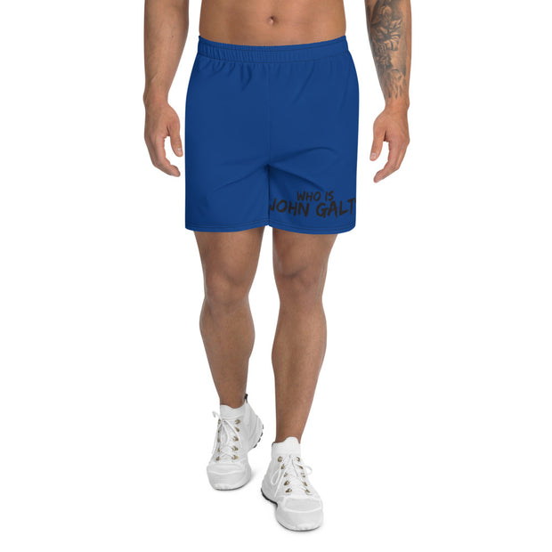 Who Is John Galt Men's Long Shorts BLUE
