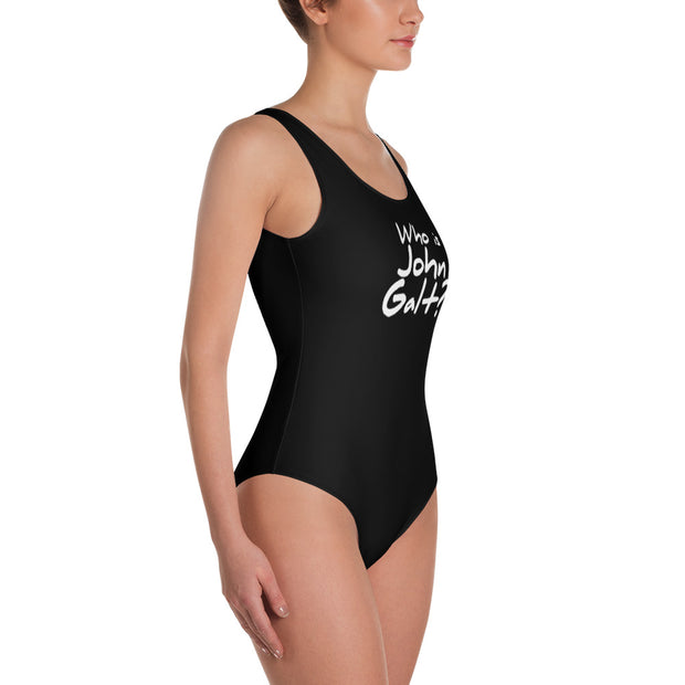 Who is John Galt One-Piece Swimsuit BLACK