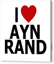 I Heart Ayn Rand - Canvas Print