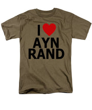 I Heart Ayn Rand - Men's T-Shirt  (Regular Fit)
