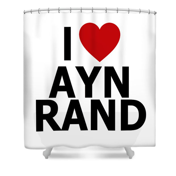 I Heart Ayn Rand - Shower Curtain