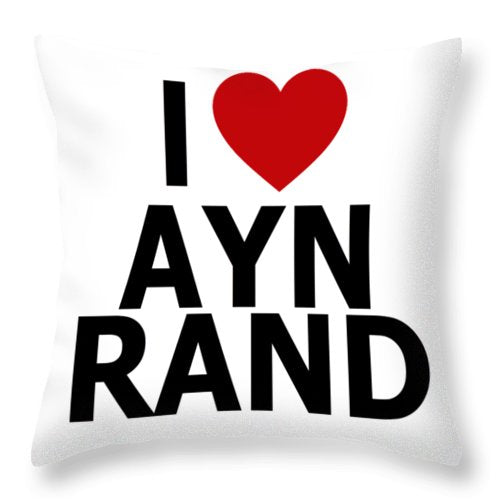 I Heart Ayn Rand - Throw Pillow