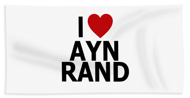 I Heart Ayn Rand - Bath Towel