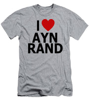 I Heart Ayn Rand - Men's T-Shirt (Athletic Fit)