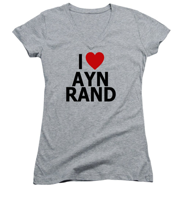 I Heart Ayn Rand - Women's V-Neck