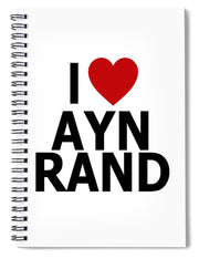 I Heart Ayn Rand - Spiral Notebook