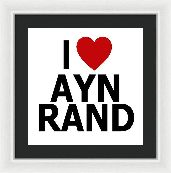 I Heart Ayn Rand - Framed Print