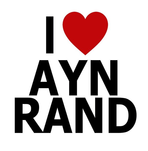 I Heart Ayn Rand - Art Print
