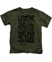 I Swear By My Life - Kids T-Shirt