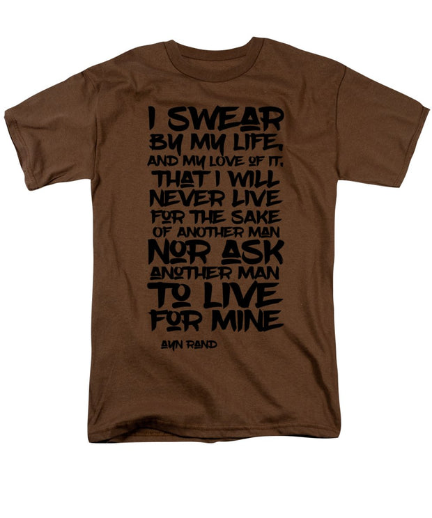 I Swear By My Life - Men's T-Shirt  (Regular Fit)
