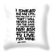 I Swear By My Life - Throw Pillow