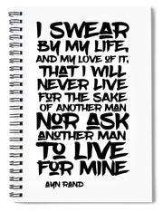 I Swear By My Life - Spiral Notebook
