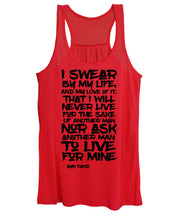I Swear by My Life - Women's Tank Top (blk txt)