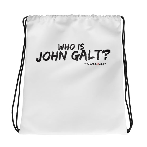John Galt Drawstring bag
