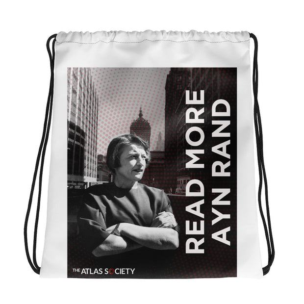 Read More Ayn Rand Drawstring bag