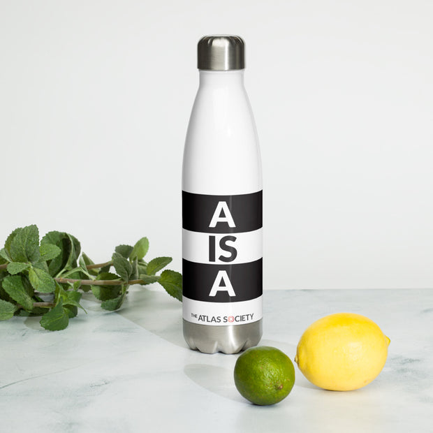 A is A Stainless Steel Water Bottle