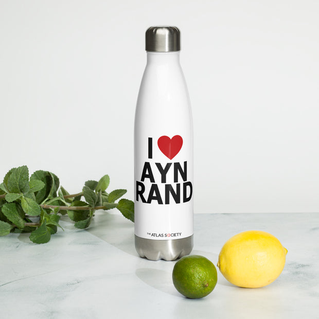 I Heart Ayn Rand Stainless Steel Water Bottle