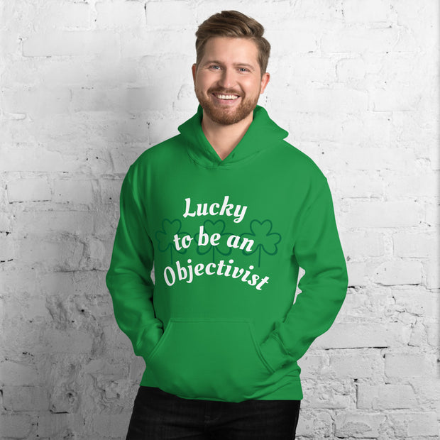 Lucky to be an Objectivist Unisex Hoodie