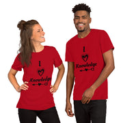 I Love Knowledge Short-Sleeve Unisex T-Shirt