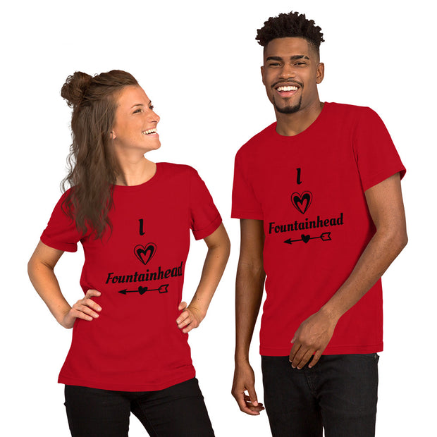 I Love Fountainhead Short-Sleeve Unisex T-Shirt
